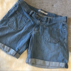 Old navy Bermuda front pocket denim shorts sz.8